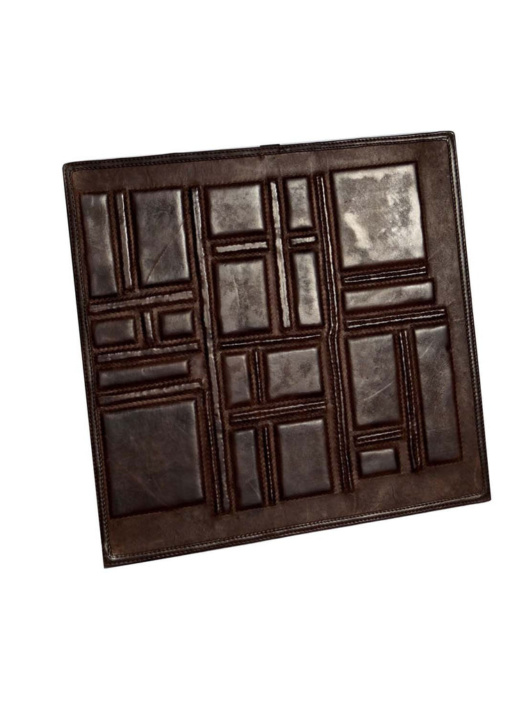 Leather Designer Asymmetrical Decorative Wall Tiles , Leather Tiles - CrabRocks, LeatherfashionOnline  - 2
