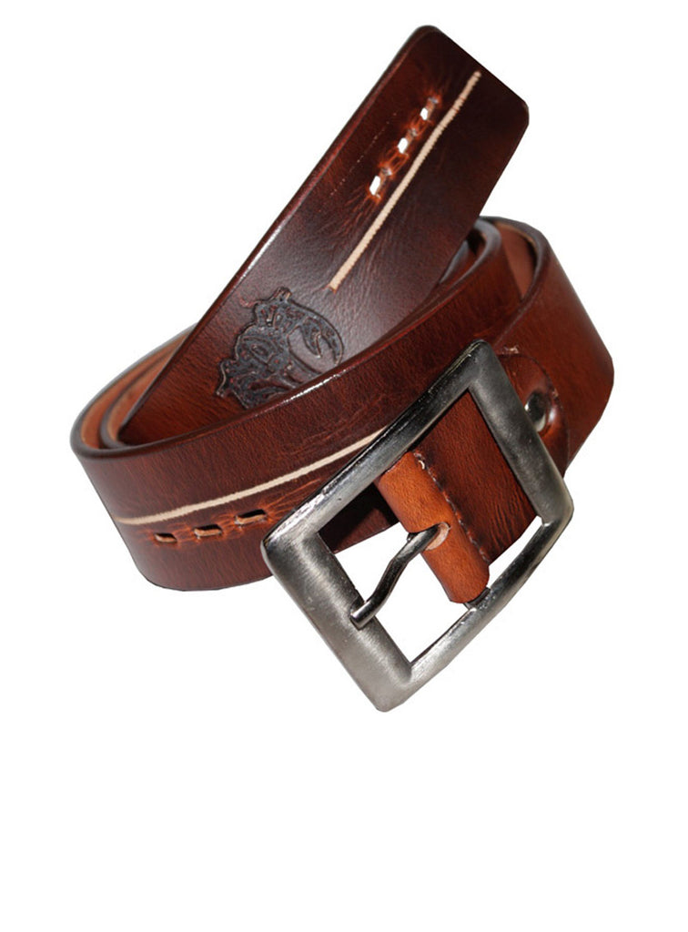Best Selling Leather Mens Casual Belt Pull Up Leather / 28 / Wine, Mens Leather Belt - CrabRocks, LeatherfashionOnline  - 1