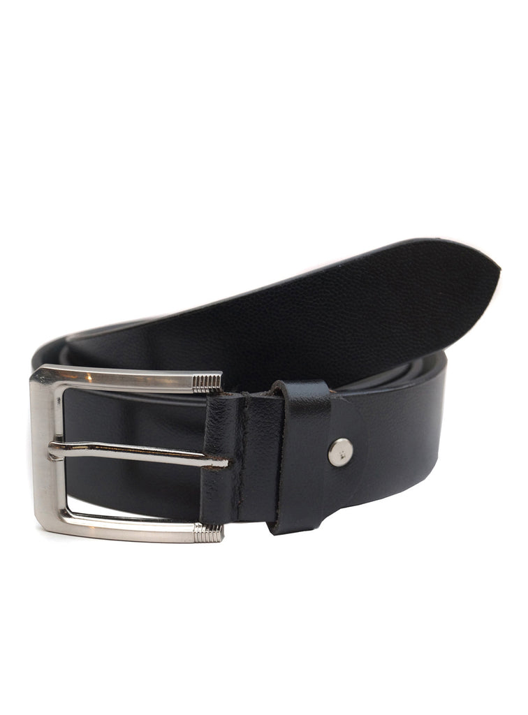 Basic Men's Printed Casual Belt Leather / 28 / Black, Mens Leather Belt - CrabRocks, LeatherfashionOnline  - 1