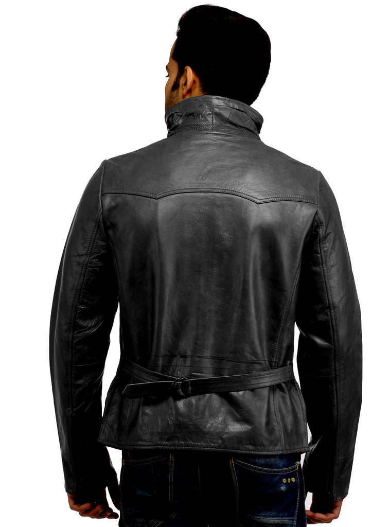 Men's Classic Leather Biker Jacket , Men Jacket - CrabRocks, LeatherfashionOnline  - 6