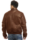 Men Real Leather Ribbed  Biker Look Bomber Jacket , Men Jacket - CrabRocks, LeatherfashionOnline  - 3
