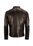 Men's Leather Padded Washed Biker Hot Seller , Men Jacket - CrabRocks, LeatherfashionOnline  - 3
