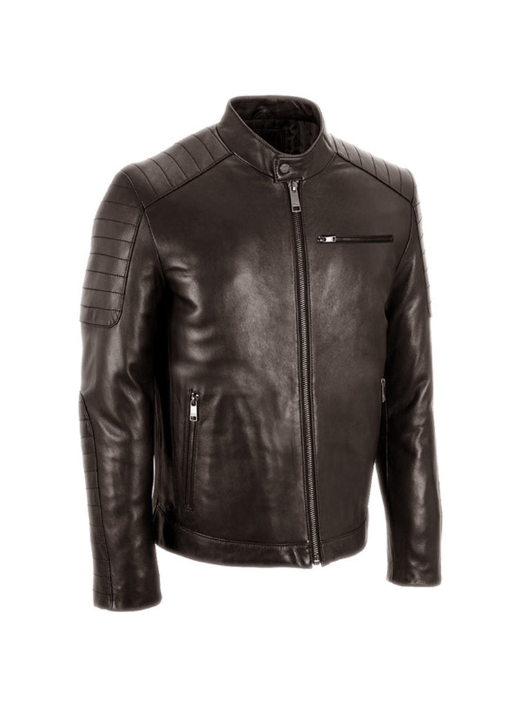 Men's Leather Padded Washed Biker Hot Seller Brown / S / Leather, Men Jacket - CrabRocks, LeatherfashionOnline  - 1