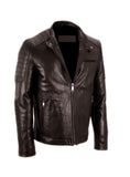 Men's Leather Padded Washed Biker Hot Seller , Men Jacket - CrabRocks, LeatherfashionOnline  - 5