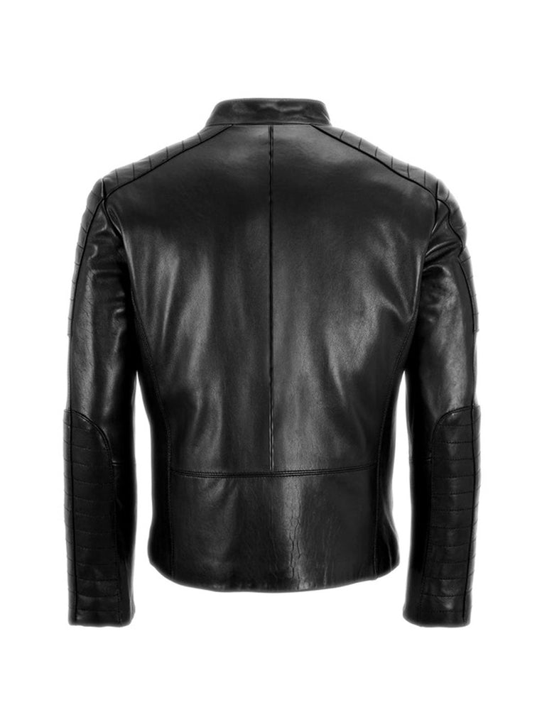 Men's Leather Padded Washed Biker Hot Seller , Men Jacket - CrabRocks, LeatherfashionOnline  - 2