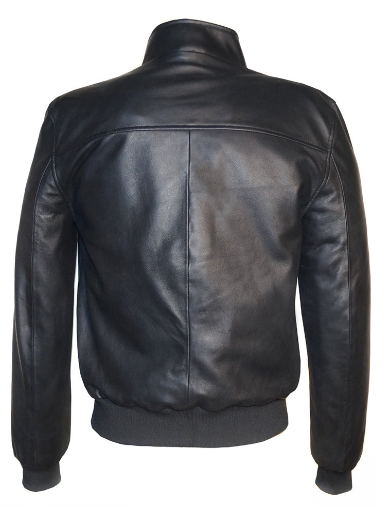 Designer Men Arrows Quilted Leather Bomber Jacket