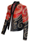 Designer Embroidered Men Leather Jacket