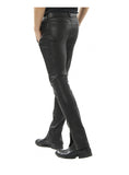 Men Lamb Leather Motorcycle Biker Pant , Ladies leather Pant/Leggings - CrabRocks, LeatherfashionOnline  - 2