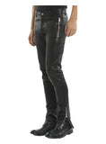 Men Lamb Leather Motorcycle Biker Pant , Ladies leather Pant/Leggings - CrabRocks, LeatherfashionOnline  - 1