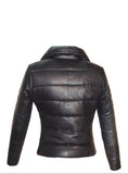 Leather Long Puffer Down Jacket- Hot Seller Women Long Coat Jacket