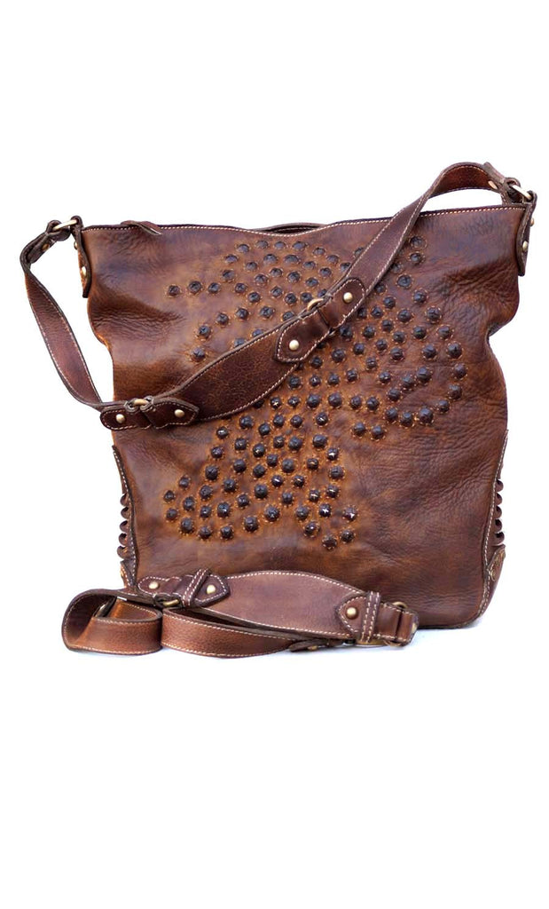 Women Crystal Embroidery Hobo Bag