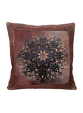 Emma Leather cushion cover- laser Art