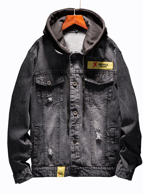 9019 Jean Hoodie,Jacket Jean For Man