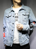 9047 Graffiti Denim Jacket,Denim Jacket Men,Camo Denim Jacket