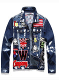 3007 New Coming Best Price Men Badge Patch Jacket