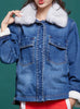 9114 Jean Jacket For Girls,Fur Lined Denim Jacket- Warm Jacket Collection