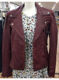 NYC Leather Woman Moto Jacket