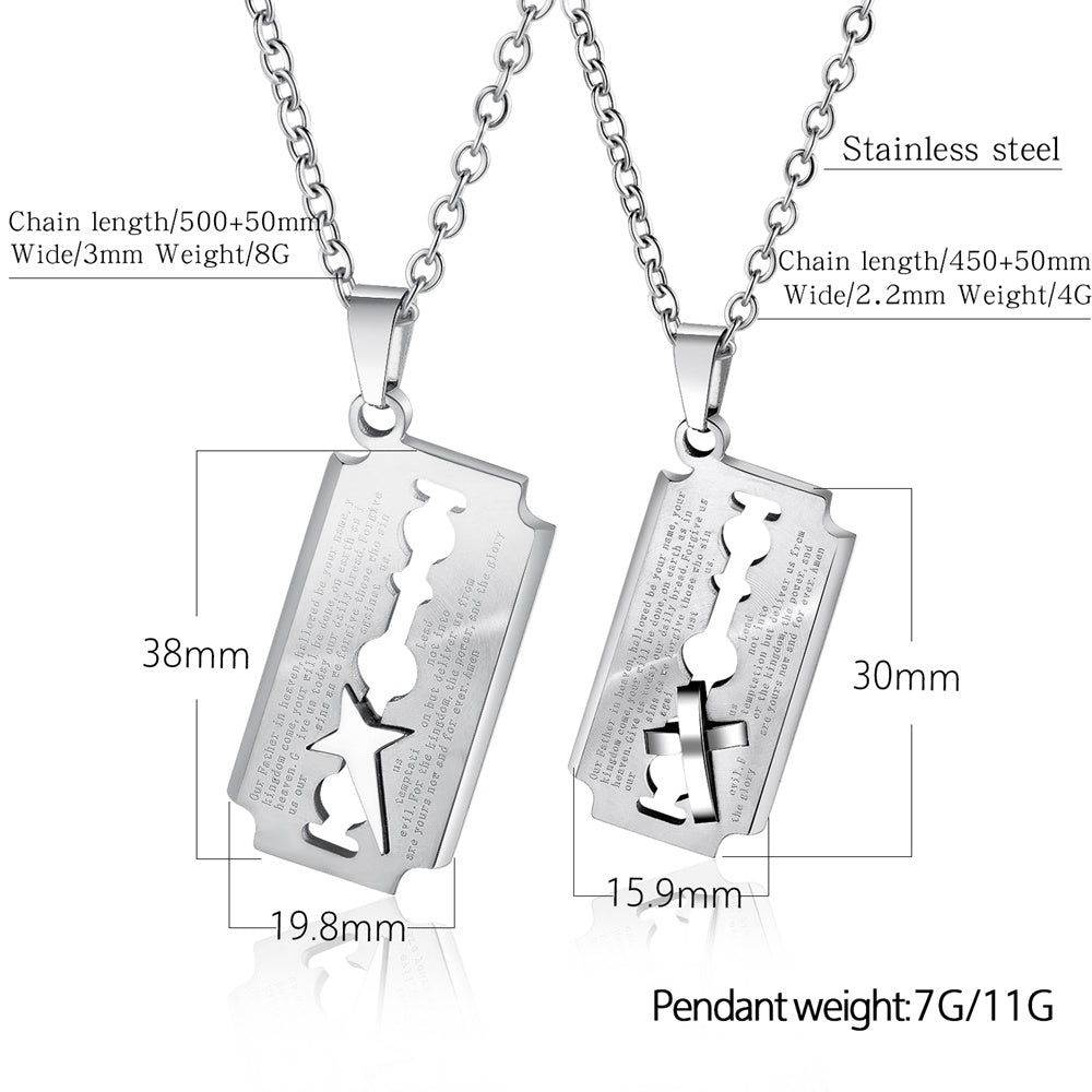 Modern Hollow Metal Custom Personalized Men Custom Pendant Blade