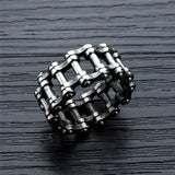Cool Vintage Punk Rock Pinion Gear Wheel Stainless Steel Ring