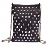 Vannamoda Nunoo Multi Studded Pockets AcrossBody Shoulder Leather Bag.