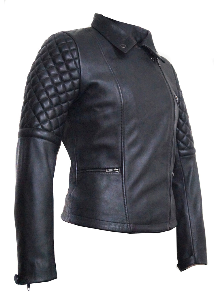New York Leather Woman Moto Jacket