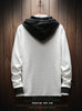 Factory direct autumn Japanese men's sweater youth  long-sleeved jacket casual hooded head men's tide