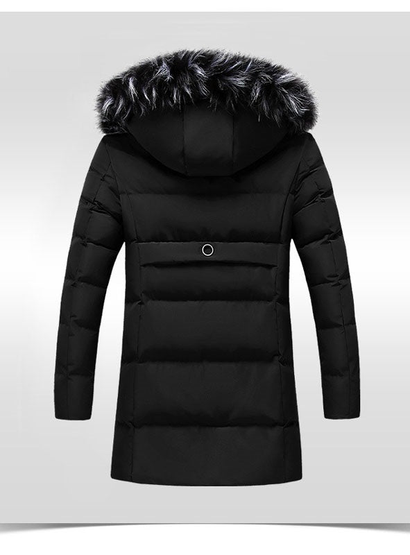 Winter Casual Hood Slim Cotton Outwear Jacket Men's Coat