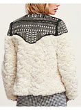 Fleece RiCoat Faux Fur Patchwork Long Sleeve Thick Cardigan Winter Women Coat