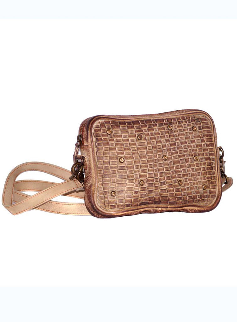 Vannamoda Hebe Round Edge Abstract weave Cross Body Bag