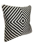 Laila   Woven  Leather cushion cover