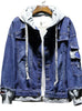 JK88A Cowboy Jacket Jean Men,Men Jean Jacket, Denim Hooded Jacket Men