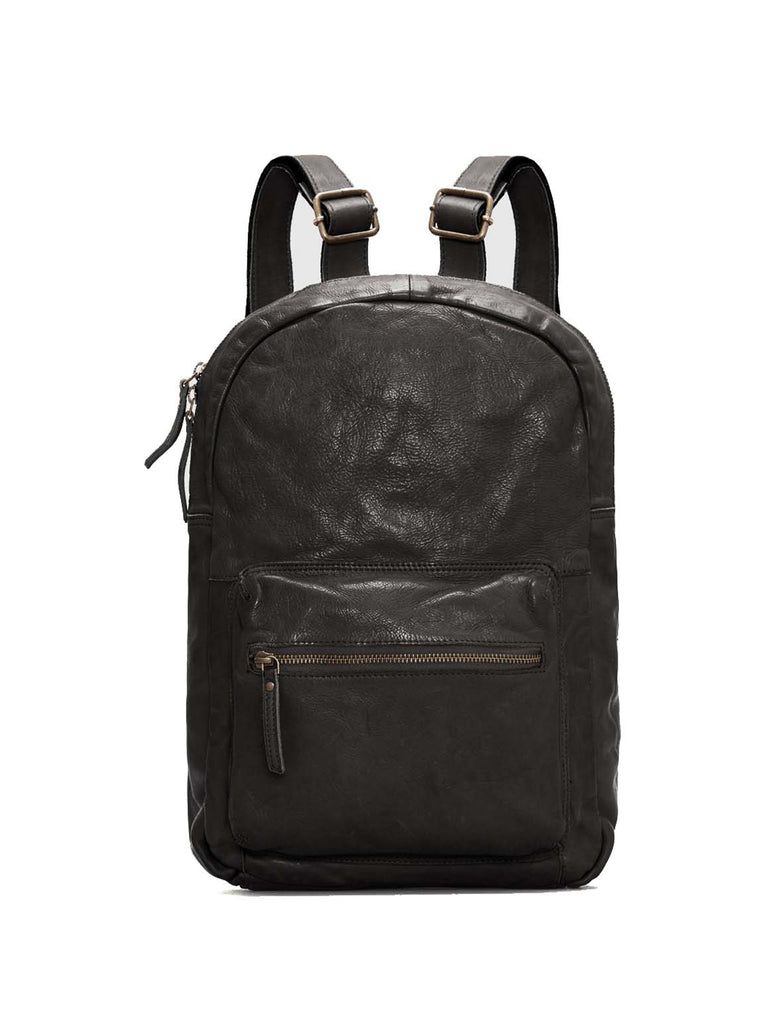 Hot Seller Leather Back Pack Jeena Washed Bag with Adjustable Back Straps