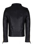 Crabrocks Men Designer Padded Motorcycle Leather Jacket , Men Jacket - CrabRocks, LeatherfashionOnline  - 3