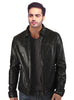 Crabrocks Men Washed Waxed Casual Leather Jacket with Classic Fit XS / LEATHER / Black, Men Jacket - CrabRocks, LeatherfashionOnline  - 1