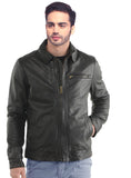 Men Classic Washed Motorcycle Biker Leather Jacket XS / LEATHER / Black, Men Jacket - CrabRocks, LeatherfashionOnline  - 1