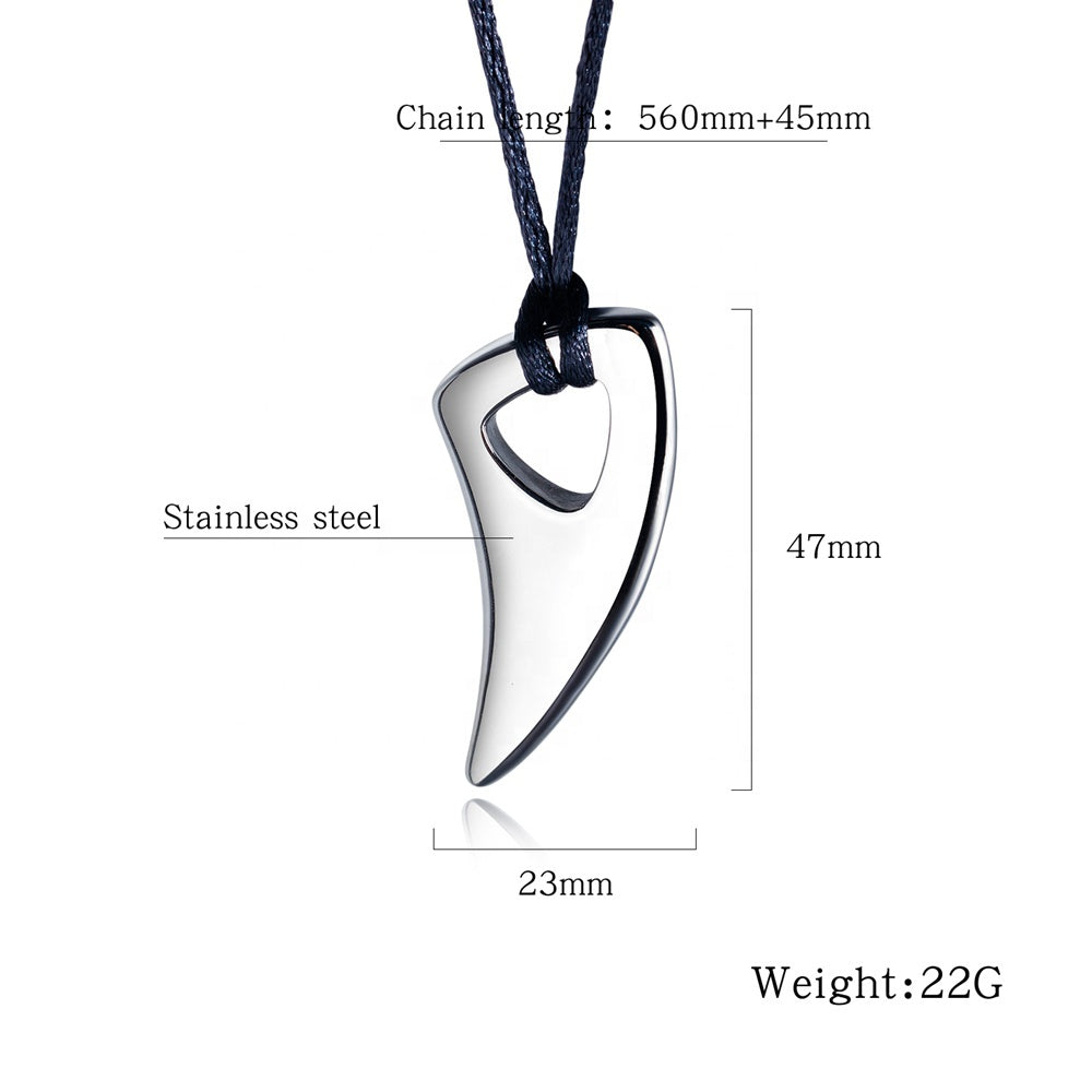 New Style Attractive Silver Black Jewelry Mens Stainless Steel Personalized Pendant