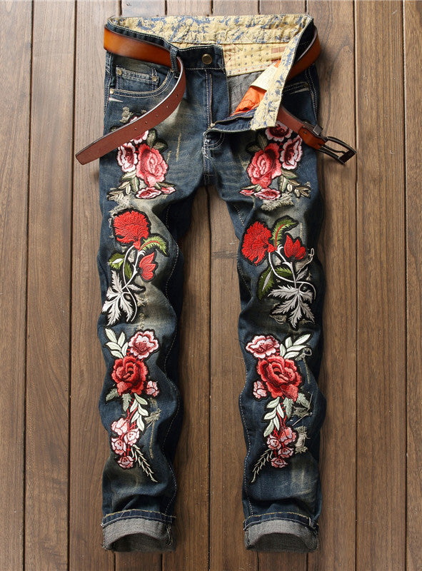 S409 Hot Popular Top Quality High End Jean with complete Embroider