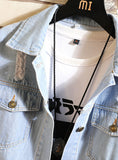S480 New Arrival Top Quality Blue Denim Print Jacket