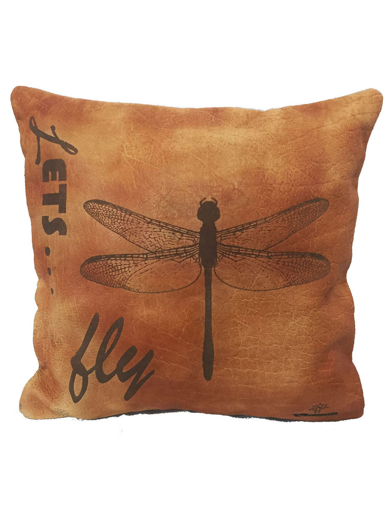 Leather Engrave Cushion Cover - Lets Fly