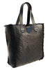 Vannamoda WOMEN CABLE KNIT BONDED TEXTURED LEATHER SHOPPER BAG