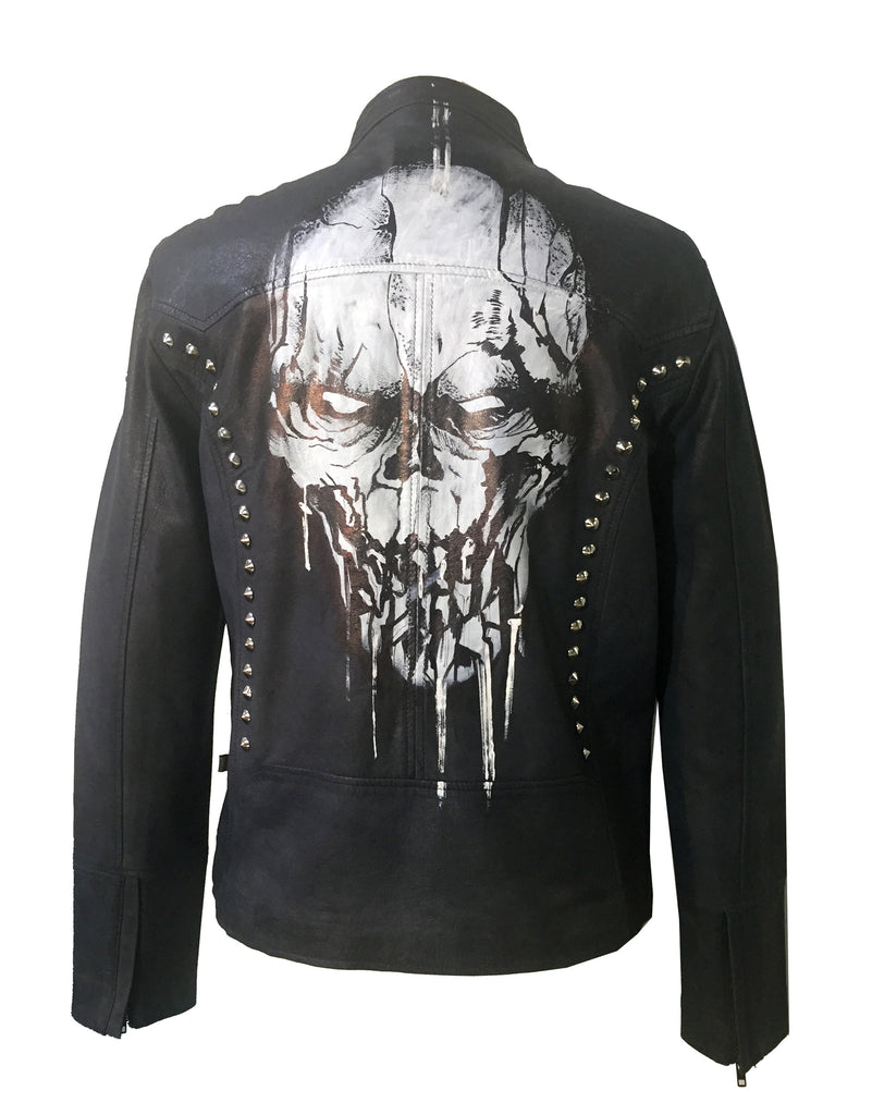 Limited Edition Hand Painted Leather Men Jacket