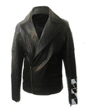 Limited Edition Hand Painted Leather Men Biker Jacket