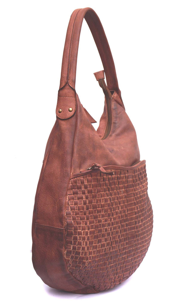Lolly Woman Leather Weave Hobo Bag