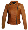 Women Leather Biker Jacket with Two Tone Oil Pull up and Suede Leather , Women Jacket - CrabRocks, LeatherfashionOnline  - 2