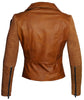 Women Leather Biker Jacket with Two Tone Oil Pull up and Suede Leather , Women Jacket - CrabRocks, LeatherfashionOnline  - 3