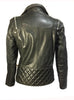 Vannamoda DUAL WEAR SAINTS WOMAN LEATHER MOTO WASHED BIKER JACKET