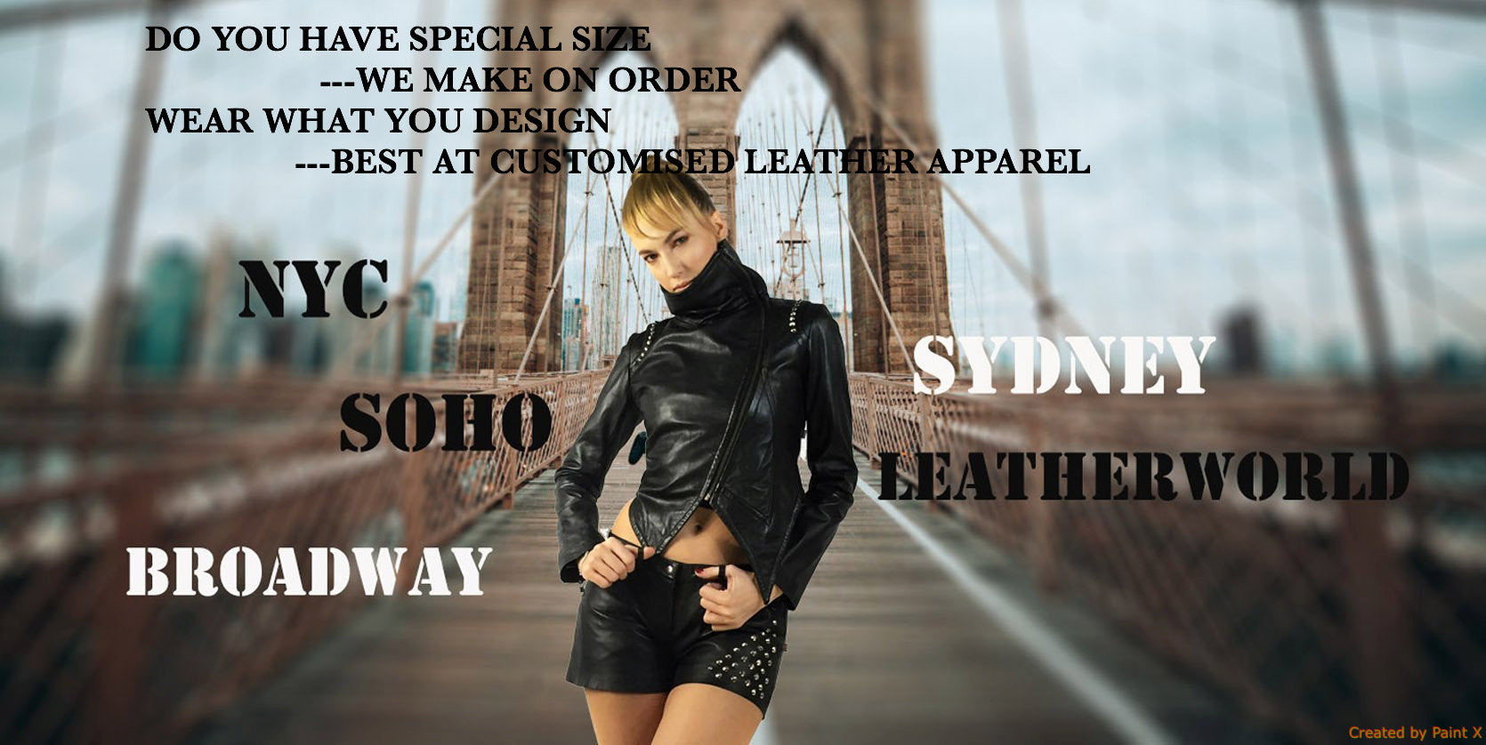 Leather Designer Studded Jacket