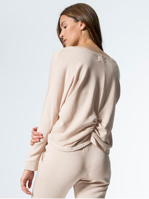 Monrow - Shirred Back L/S Top
