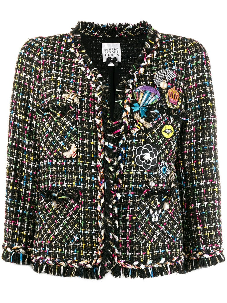 Edward Achour Paris Patchwork Multi Jacket