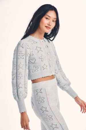 LoveShackFancy Lata Cropped Cardigan